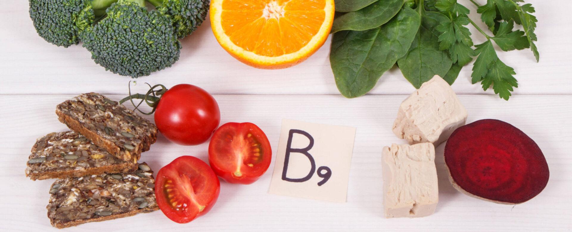 Храни съдържащи фолиева киселина на маса