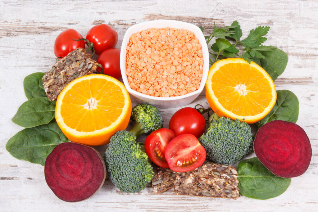 Снимки на храни съдържащи фолиева киселина