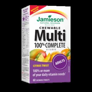 Мултивитамини за възрастни х60 дъвчащи таблетки Джеймисън